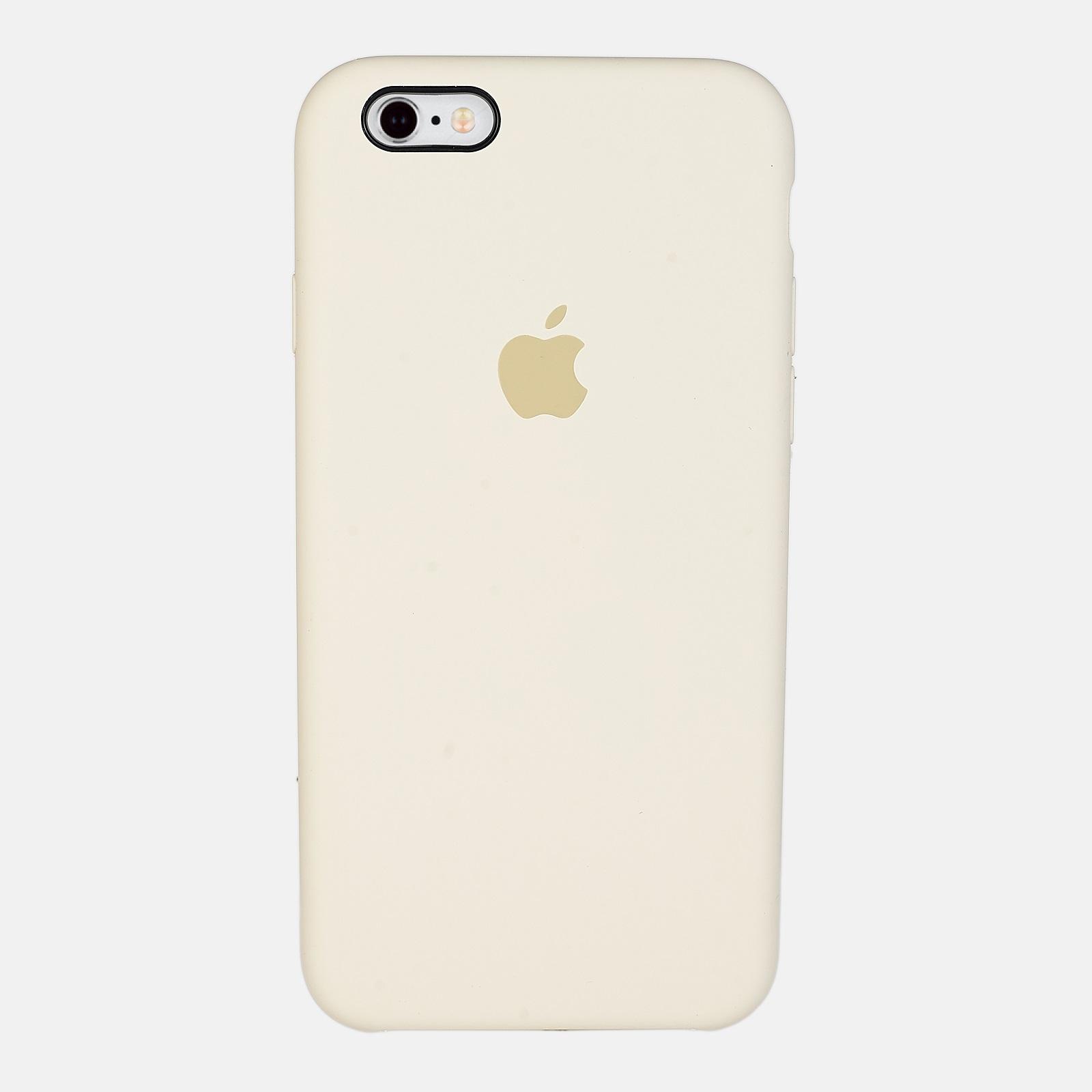 Бежевый чехол Silicone Case для iPhone 6/6S
