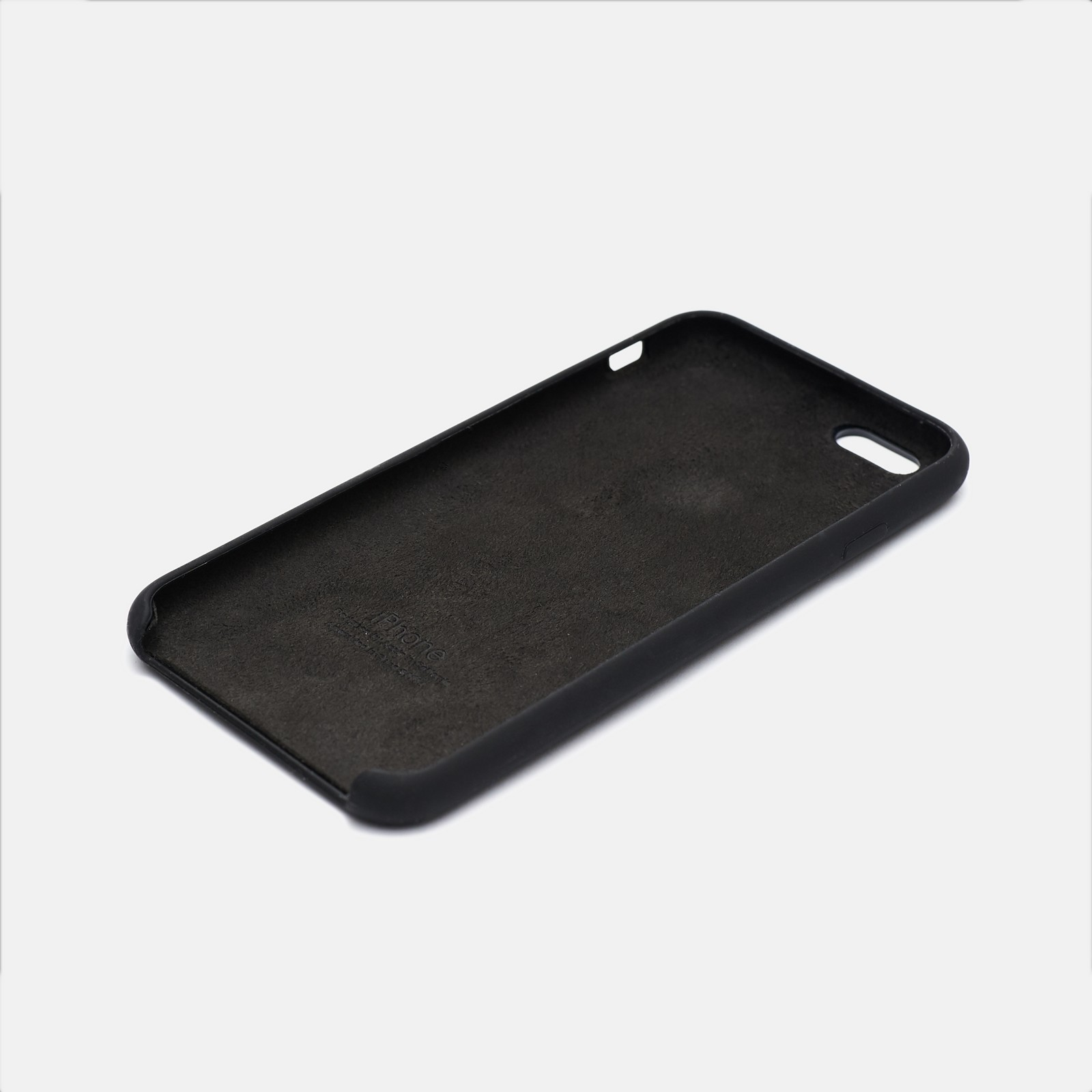 Черный чехол Silicone Case для iPhone 6/6S
