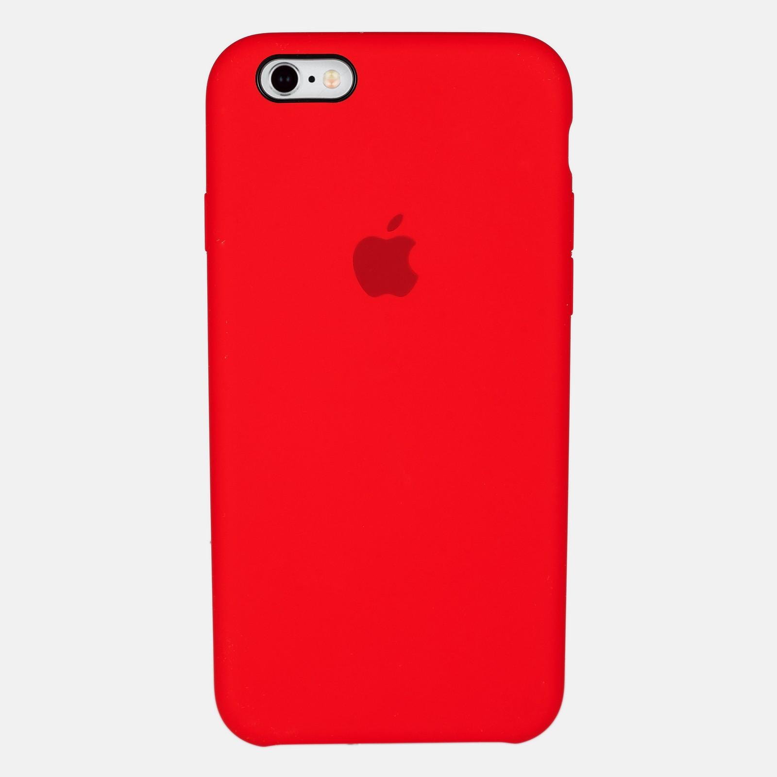 Красный чехол Silicone Case для iPhone 6/6S
