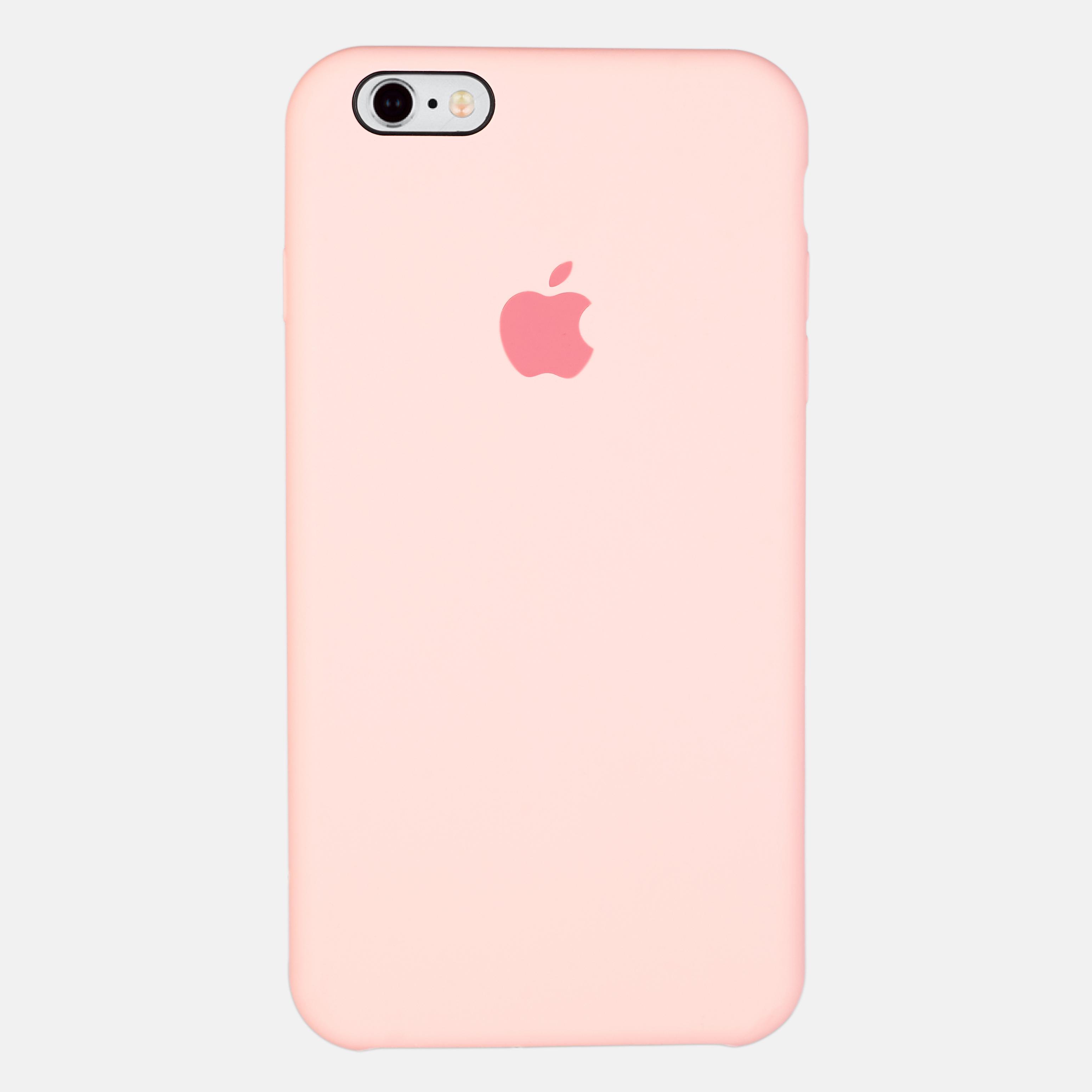 Розовый чехол Silicone Case для iPhone 6/6S