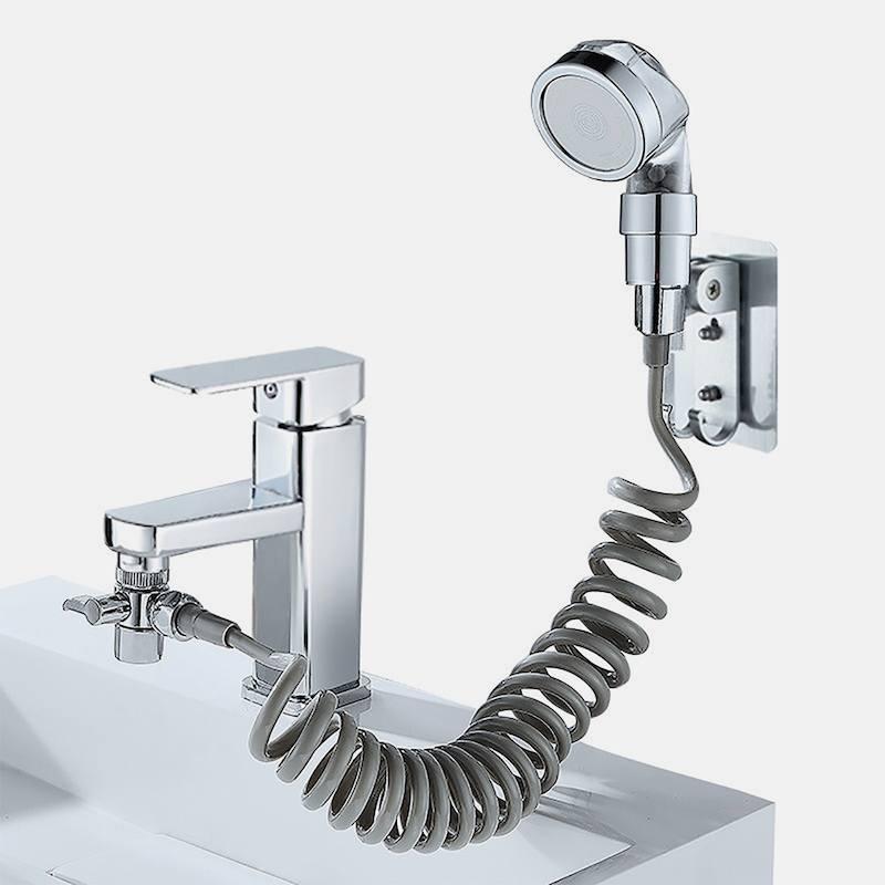 Душевая насадка на кран + Силиконовый держатель + Силиконовая мочалка-массажер + Насадка с подсветкой