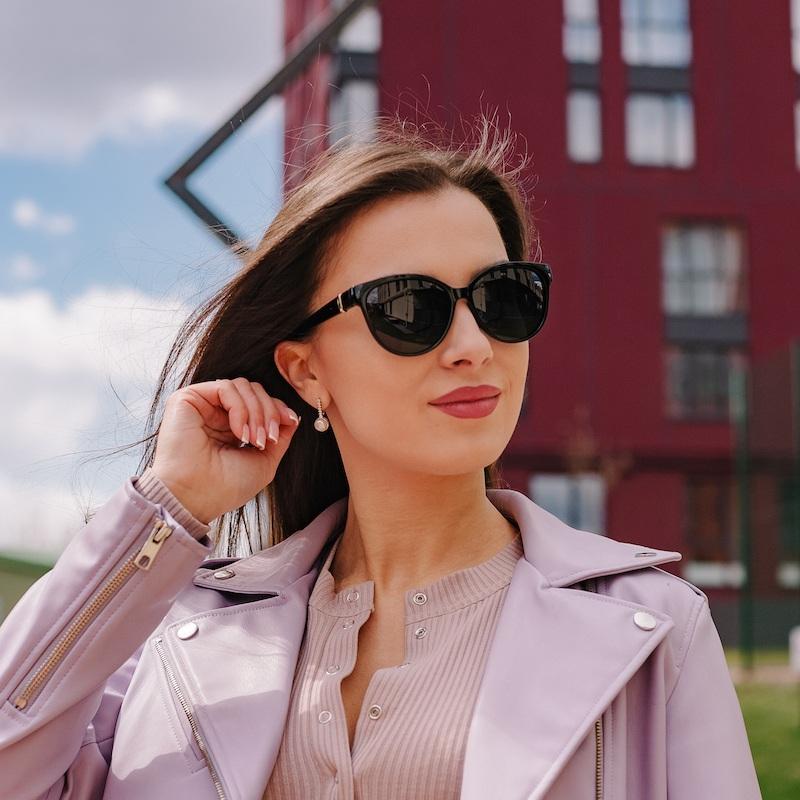 Брендовые женские cолнцезащитные очки Сardeo CR001 с поляризацией