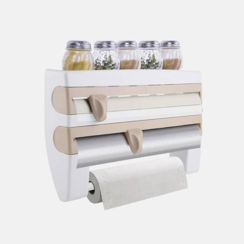 Кухонный органайзер 4 в 1 + Корзина для раковины + Кухонная магнитная рейка + Органайзер для мочалок