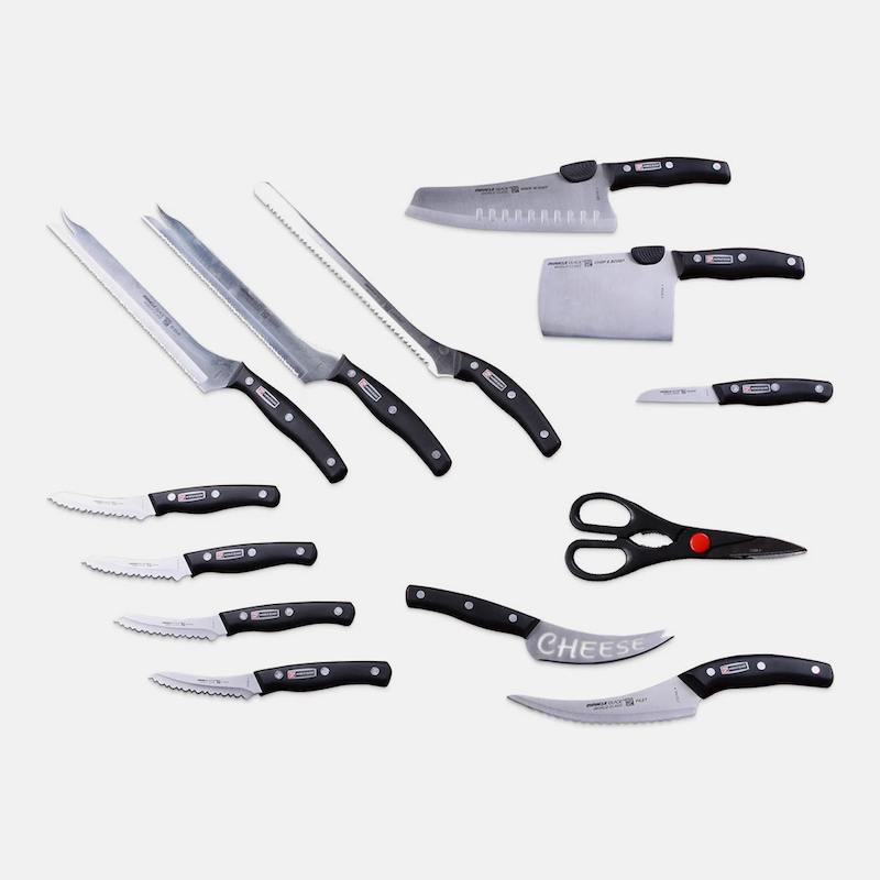 Набор кухонных ножей 13 в 1 + Точилка для ножей